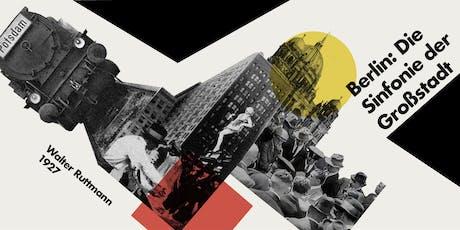 """Berlín, sinfonía d'una gran ciutat"" al cicle de cinema Pantalla Pavelló entradas"