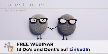 Free Linkedin-Webinar Tickets
