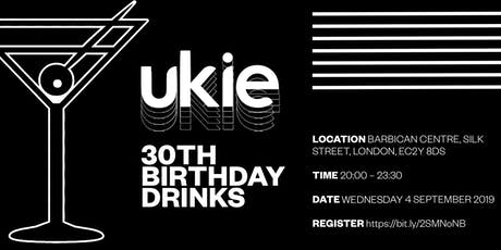 Ukie 30th Birthday Drinks tickets