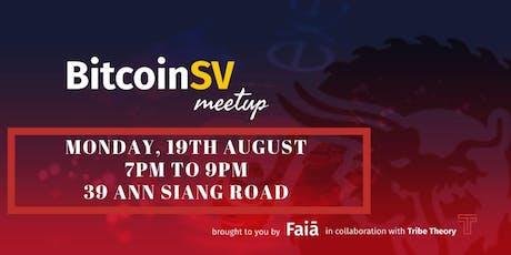 Bitcoin SV Meetup tickets