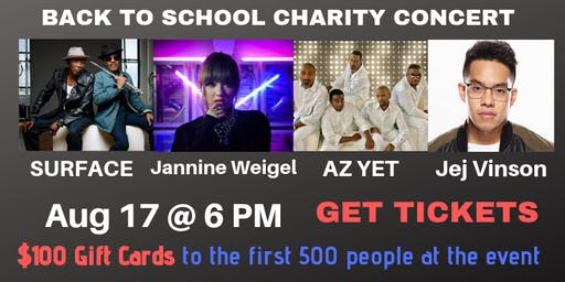 BACK TO SCHOOL CHARITY CONCERT