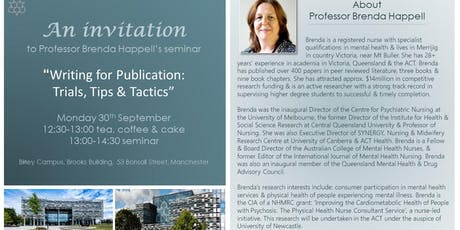 Writing for Publication: Trials, Tips & Tactics with Prof. Brenda Happell tickets