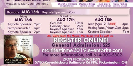 "MANIFEST IN ME 2019 ""BIRTHING THE MIRACULOUS"" tickets"