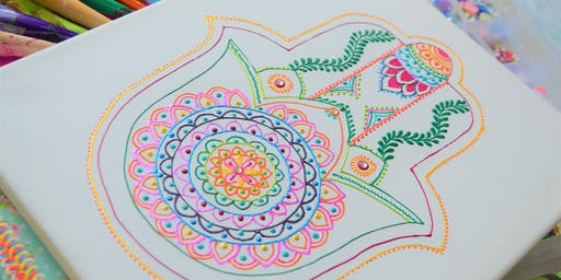 Hamsa Hand Canvas Design Workshop