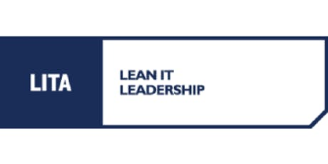 LITA Lean IT Leadership 3 Days Virtual Live Training in Mississauga tickets