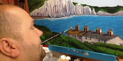 Meet the Artist: A Unique Art Event with Mouth Painter Bazza West
