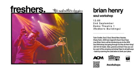 MASTERCLASS: Soul Workshop with Brian Henry tickets