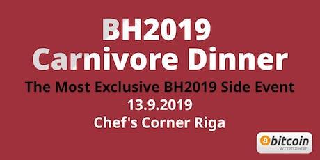 BH2019 Carnivore Dinner 13.9.2019 tickets