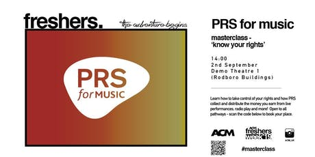 MASTERCLASS: Know Your Rights with PRS for Music tickets