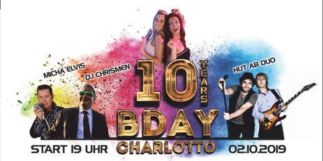 10 Jahre Charlotto Birthday Party Tickets