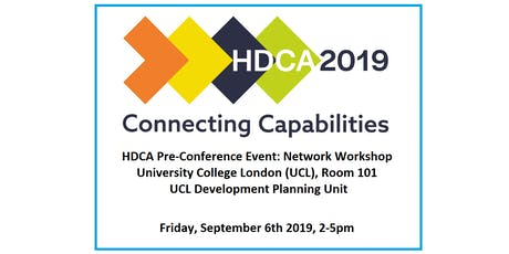 HDCA 2019 Pre-Conference Event 1: 'Development Practice: Connecting Capabilities' -  Network Workshop tickets