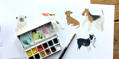 Painting Dogs with Watercolours