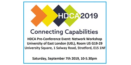HDCA 2019 Pre-conference event 2: 'Development Practice: Connecting Capabilities' tickets