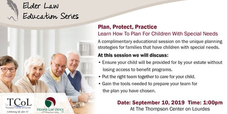 Plan, Protect, Practice: Learn How To Plan For Children With Special Needs  tickets