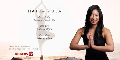 Hatha Yoga - All Levels (Mondays) tickets