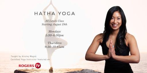 Hatha Yoga - All Levels (Mondays)