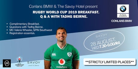 Conlans BMW Present Rugby World Cup Breakfast Q & A With Tadhg Beirne tickets