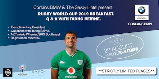 Conlans BMW Present Rugby World Cup Breakfast Q & A With Tadhg Beirne