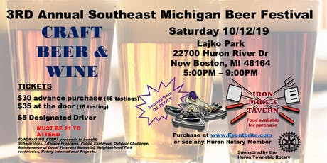 3RD Annual Southeast Michigan Beer Festival tickets