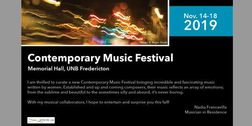 Contemporary Music Festival (3 Concerts Package)