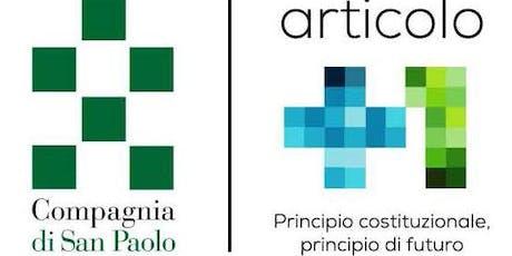 Presentazione BANDO ARTICOLO +1 GENOVA biglietti