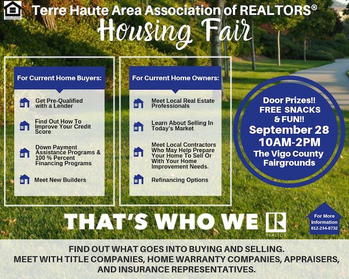 Vigo County School Calendar.Terre Haute Area Association Of Realtors Housing Fair Tickets Sat