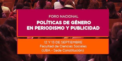 Foro Nacional de Políticas de Género en Periodismo y Publicidad