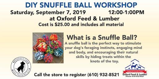 DIY Snuffle Ball Workshop