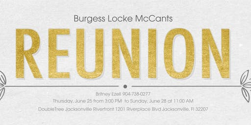 Burgess Locke McCants Family Reunion
