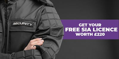 Stoke on Trent- Free SIA Security Training with Free SIA Badge worth £220