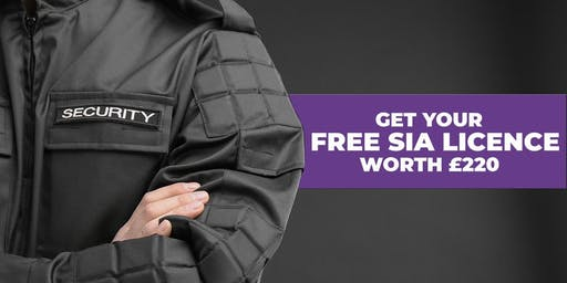 Bradford- Free SIA Security Training with Free SIA Badge worth £220