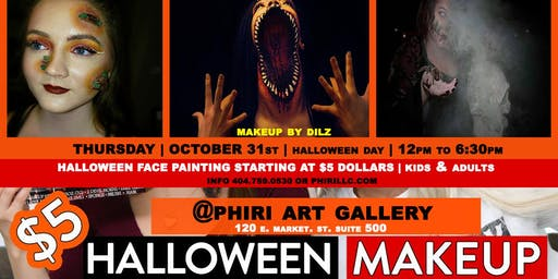Halloween face painting \ KIDS & Adults / @phiri \ OCT 31st