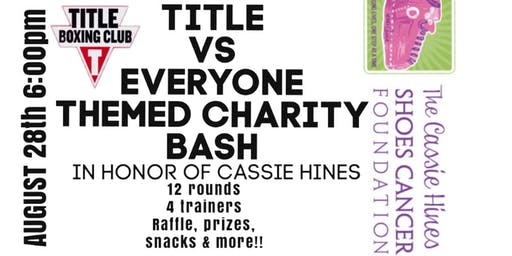 Boxing Bash for the Cassie Hines Shoes Cancer Foundation
