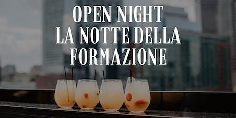 Open night: La notte della formazione a Roma biglietti