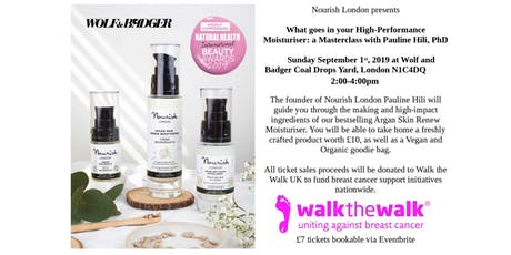 Inside Your High Performance Moisturiser: A Masterclass with Pauline Hili, PhD tickets