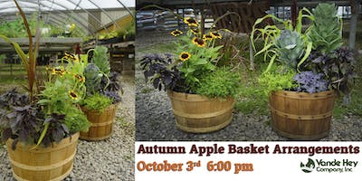 Autumn Apple Basket Arrangements