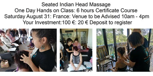 Learn Indian Head Massage Aug 31 Domaine D'escapa A Clarens, 32300 Estipouy