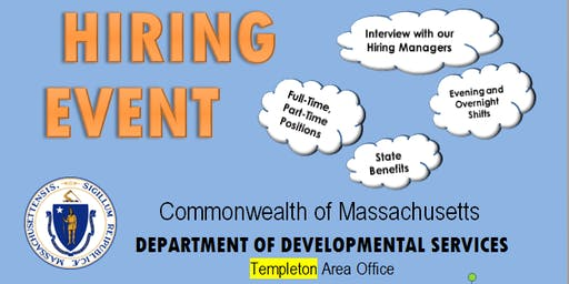 Department of Developmental Services Hiring Event