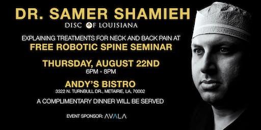 Free Spine Seminar - K. Samer Shamieh, MD