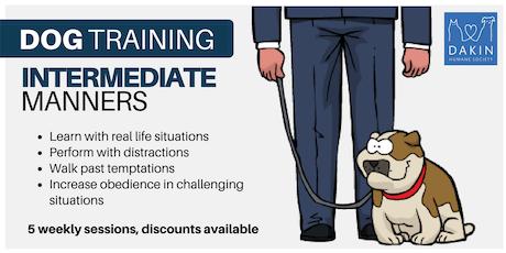 Intermediate Manners Dog Training -Leverett tickets