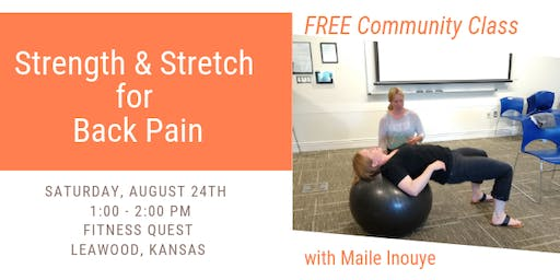 Strength and Stretch for Back Pain