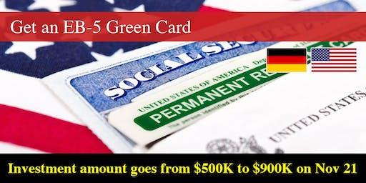 EB-5 Visa Info Session – Stuttgart, Germany – 6% Investor Return & Low Fees