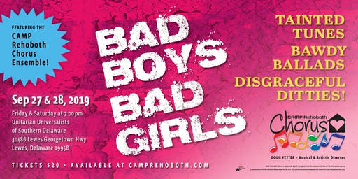 CAMP Rehoboth Chorus Ensemble - BAD BOYS/BAD GIRLS!