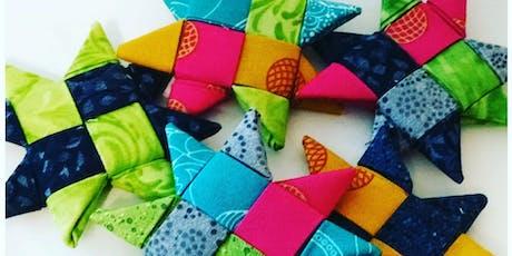Scandinavian Stars: No-Sew Fabric Ornaments Workshop with Sandy Maxfield tickets