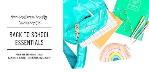 Back to School Essentials: Kids Essential Oils Make & Take + Destress Night