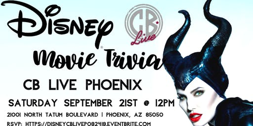 Disney Movie Trivia at CB Live Phoenix