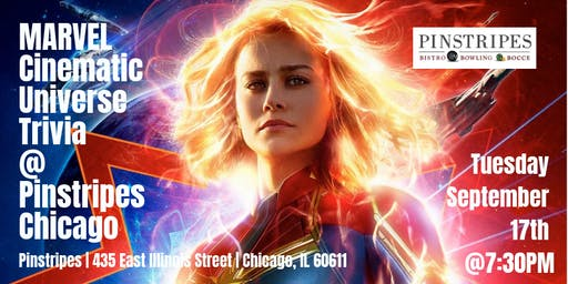 Marvel Cinematic Universe Trivia at Pinstripes Chicago