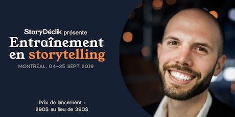 Entraînement en storytelling - transformez vos expériences en histoires (très) captivantes tickets