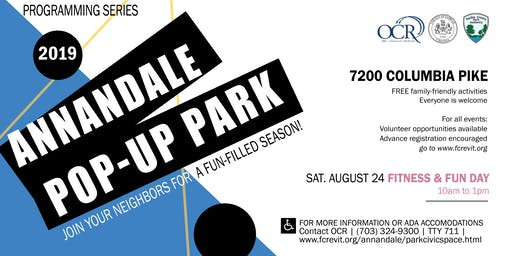 Annandale Pop-Up Park: Fitness & Fun Day