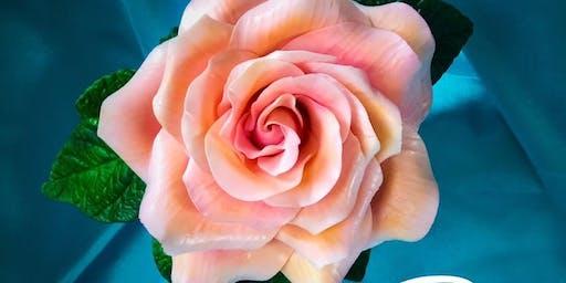 Gumpaste Rose Septembers Flower